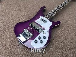 2020 High quality 4 String Bass Electric Guitar, Ricken 4003 purple paint Electri