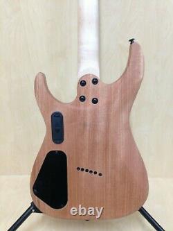 4/4 Haze 6FF Natural Oil Fanned-Fret 6-String Electric Guitar+Free Gig Bag, Strap