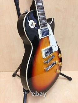 4/4 Haze SEG-277BS Solid Body Electric Guitar Sunburst + Gig Bag + Strings