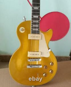 56 gold top electric guitar GD Guitars P90 pickups 6 Strings Solid Body New