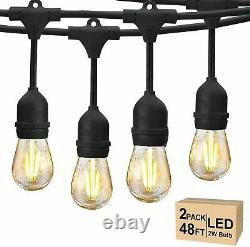 96Ft FESTOON E27 IP65 WATERPROOF LED OUTDOOR GARDEN STRING LIGHTS HEAVY DUTY