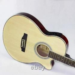 Acoustic Guitar Electric 6 Steel-Strings Thin Body 40 Inch Red Light Cutaway