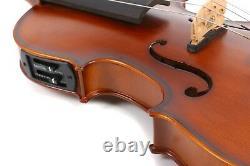 Advanced Electric Acoustic Violin 5String 4/4 Maple Spruce Nice Tone #EV1