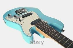B-stock Ukulele Tenor Electric Solid body in Pacific Blue SC style by Clearwater