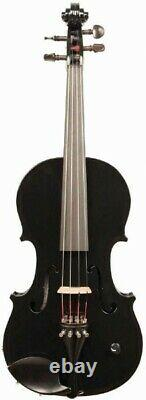 Barcus-Berry Vibrato-AE Acoustic-Electric Violin Outfit with Case Black