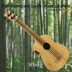 Bass Ukulele Bass Electric Ubass Bamboo Solid Wood Bag Tuning Wrench Humidifier