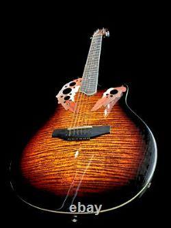 Beautiful Flamed-new 12 String Deluxe Acoustic Electric Round Back Guitar
