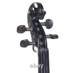 Cecilio Size 4/4 Electric Violin Ebony Fitted Black Style2