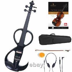 Cecilio Size 4/4 Electric Violin Ebony Fitted Black Style3