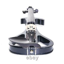 Cecilio Size 4/4 Electric Violin Ebony Fitted Black Style4