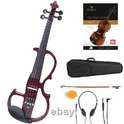 Cecilio Size 4/4 Electric Violin Ebony Fitted Red Style2