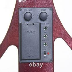 Cecilio Size 4/4 Electric Violin Ebony Fitted Red Style4
