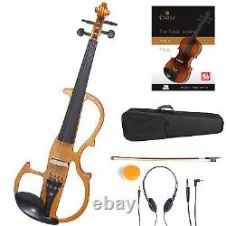 Cecilio Size 4/4 Electric Violin Ebony Fitted Yellow Style2