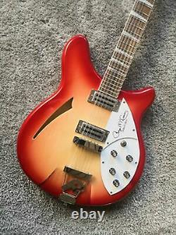 Cherry Red Rare Mahogany Electric Guitar Model 360 Semi Hollow Body 12/6 Strings