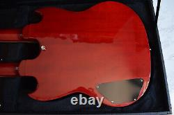 Cozart Red Double Neck 6/12 String SG Style Electric Guitar with Case NEW