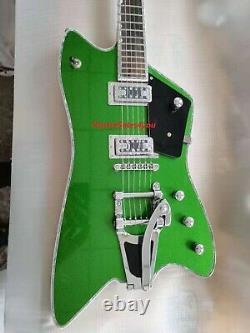 Custom 6 Strings G6199B Billy Bo Jupiter Green Thunderbird Electric Guitar Bass