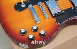 Custom Double Neck 6+12 Strings Electric Guitar Tobacco Sunburst Chrome Hardware