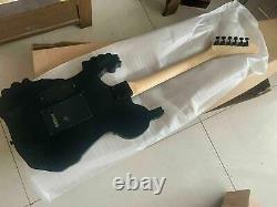 Custom George Lynch Skull Bones Black Body Electric Guitar 6 String Chinese