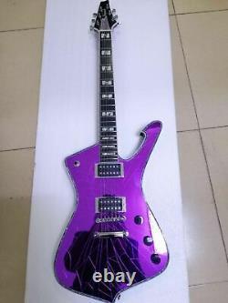 Custom Mirror Cracks Kiss Paul Stanley 6 String Electric Guitar Color purple