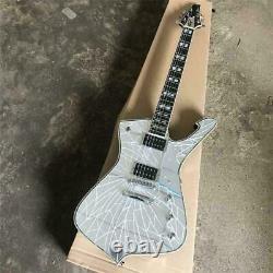 Custom Mirror Cracks Kiss Paul Stanley Electric Guitar 6 String silver hardware