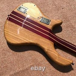 Custom OEM5 String Electric Bass Electric Guitar 6 Strings Grey Solid Right-hand