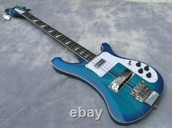 Custom RICken blue 4 Strings cherry 4003 Electric Bass Guitar Chinese eddition