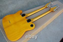 Custom TELE12 string compound string +6 string double neck electric guitar NEW