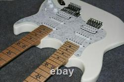 Custom electric guitar 12/6 strings double neck white guitar customization New