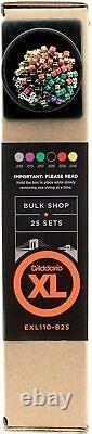 D'Addario EXL110 XL Electric Guitar String 10-46 Bulk Shop 25 Sets EXL110-B25