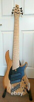 Dingwall Combustion 6 six string multiscale fanfret electric bass guitar + case