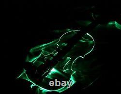 EQUESTER Sigma Stradi Acrylic/ padouk/ ebony electric violin, HANDMADE RGB LEDs