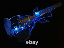 EQUESTER butterfly 5 string fretted acrylic electric violin, HANDMADE, QP pickup