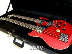 Ebs 1250 Style 4-6 String Double Neck Trans Red Electric Guitar-case Included