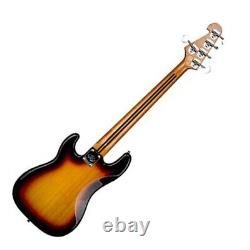 Electric Bass Guitar 5 string PB Style Double Cutaway in Sunburst with Gig Bag