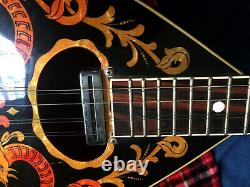 Electric Bouzouki Greek Rare Aetna Vintage with new lockable hard shell ABS case