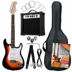 Electric Guitar Beginner Set Amplifier Tuner Gigbag Strap Picks Strings Sunburst