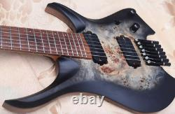 Electric Guitar Roasted Maple Neck Roasted ASH Body 7-Strings Headless Black 37