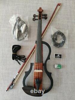Full Size 4/4 Coloured Solid Wood 3-Band EQ Electric / Silent Violin Kit