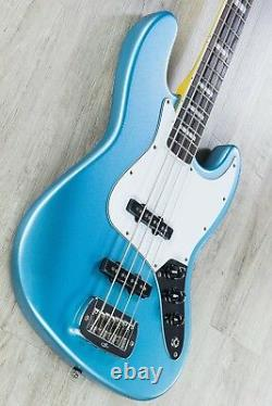 G&L Tribute JB 4-String Electric Bass, Brazilian Cherry Board Lake Placid Blue