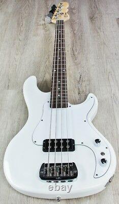 G&L Tribute Kiloton 4-String Electric Bass Guitar, Brazilian Cherry Olympic White