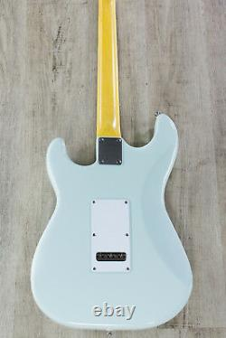 G&L Tribute S-500 6-String Electric Guitar Brazilian Cherry board Sonic Blue
