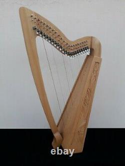 Gevon 22 Strings Ash wood Irish Harp with levers, Bag & Book Limerick H10L