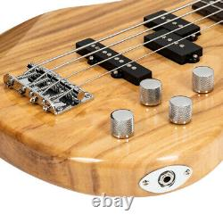 Glarry Gib Electric Bass Guitar Full Size 4 String Burly Wood All Uk