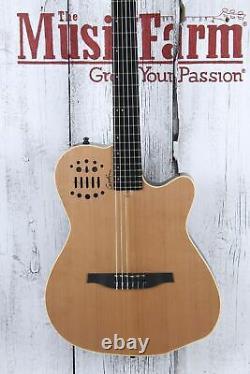 Godin ACS SA Slim Cedar Nylon String Acoustic Electric Guitar Natural w Gig Bag