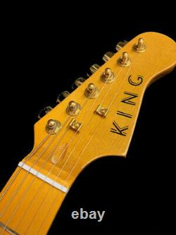 Great Playing New 6 String St Gold Anodized Pickguard Electric Guitar