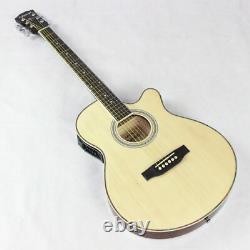 Guitar Acoustic Electric 6 Steel-Strings Thin Body Flattop Balladry Folk Pop 40