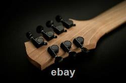 Handmade Custom Electric Guitar One Piece Body 7Strings Brown Burst/ Les Paul