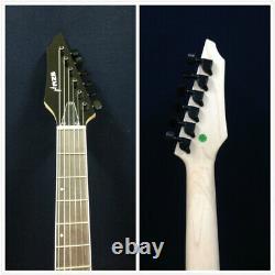 Haze-6FF TBK Flame Trans Black, Fanned-Fret, 6-String Electric Guitar+Free Gig Bag