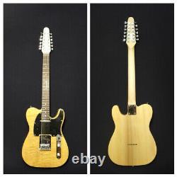 Haze HSTL-100BNA-12SB 12-String Electric Guitar, Natural Quilted Top+Free Gig Bag