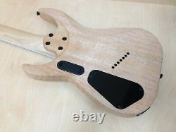 Haze Natural Oil Fanned-Fret 7-String Electric Guitar+Free Bag HS-E007FF Noil